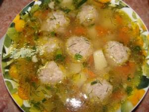 Суп гороховый с фрикадельками